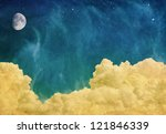 a fantasy cloudscape with a... | Shutterstock . vector #121846339