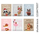 merry christmas and happy new... | Shutterstock .eps vector #1218475057