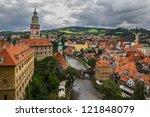 View Of Cesky Krumlov  Czech...