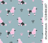 seamless pattern with cute... | Shutterstock .eps vector #1218486187