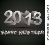 new 2013 year greeting card... | Shutterstock .eps vector #121849345