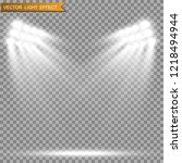 stadium floodlights brightly... | Shutterstock .eps vector #1218494944