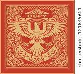 Propaganda Ornate Eagle Tile