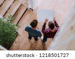 top view of perspective... | Shutterstock . vector #1218501727