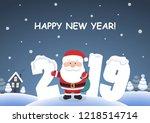 cute cartoon background   happy ... | Shutterstock .eps vector #1218514714