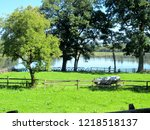 view of lush green meadow... | Shutterstock . vector #1218518137