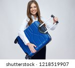 business woman ready for... | Shutterstock . vector #1218519907