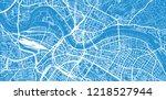 urban vector city map of... | Shutterstock .eps vector #1218527944