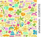colorful summer graphics | Shutterstock .eps vector #121853701