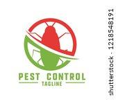 pest control logo for... | Shutterstock .eps vector #1218548191