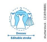 dress concept icon. evening... | Shutterstock .eps vector #1218548881