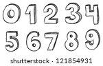 number doodles | Shutterstock .eps vector #121854931