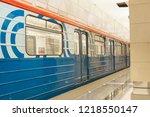 moscow  russia   october 28 ... | Shutterstock . vector #1218550147