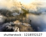 aerial view of power plant | Shutterstock . vector #1218552127
