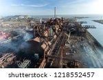industrial city of mariupol ... | Shutterstock . vector #1218552457