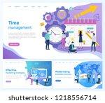 time management  effective... | Shutterstock .eps vector #1218556714
