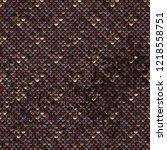 seamless sequins texture... | Shutterstock . vector #1218558751