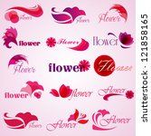 Flower Patterns Isolated On...