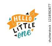 hand drawn lettering phrase... | Shutterstock .eps vector #1218582877