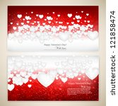 beautiful greeting cards with... | Shutterstock .eps vector #121858474