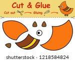 paper game for the development... | Shutterstock .eps vector #1218584824