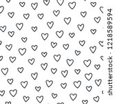 hand drawn hearts seamless... | Shutterstock .eps vector #1218589594