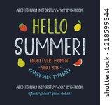 summer  font. hand made... | Shutterstock .eps vector #1218599344