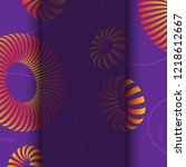 3d abstract colorful shape.... | Shutterstock . vector #1218612667