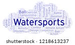 watersports word cloud. | Shutterstock . vector #1218613237