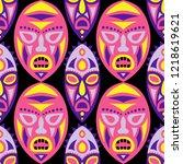 seamless background. ethnic... | Shutterstock .eps vector #1218619621