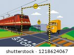 illustration of unmanned rail... | Shutterstock .eps vector #1218624067