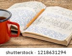 kayak expedition journal with a ...   Shutterstock . vector #1218631294