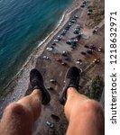 climbing for adrenaline  | Shutterstock . vector #1218632971