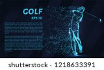 golf from the blue points of... | Shutterstock .eps vector #1218633391