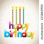 happy birthday card with... | Shutterstock .eps vector #121863904