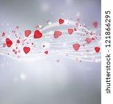 bright valentine background...   Shutterstock . vector #121866295