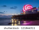 Santa Monica Pier And Beach...