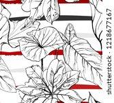 tropical  modern stripes motif. ...   Shutterstock .eps vector #1218677167
