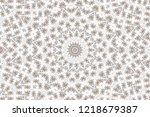 brown kaleidoscopic effect with ... | Shutterstock . vector #1218679387