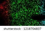 decorative disco led lights... | Shutterstock . vector #1218706837
