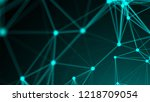 abstract connection dots.... | Shutterstock . vector #1218709054