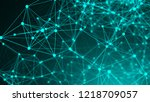 abstract connection dots.... | Shutterstock . vector #1218709057