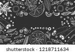 hand drawn vector background... | Shutterstock .eps vector #1218711634