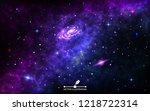 space background. cosmic... | Shutterstock .eps vector #1218722314