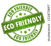 eco friendly vector stamp | Shutterstock .eps vector #121873897
