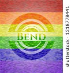 bend on mosaic background with...   Shutterstock .eps vector #1218778441