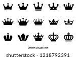crown icon set   black color | Shutterstock .eps vector #1218792391