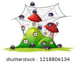spider at the hill house... | Shutterstock .eps vector #1218806134