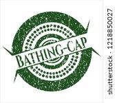 green bathing cap rubber grunge ...   Shutterstock .eps vector #1218850027