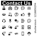 contact us icon set   1  black...   Shutterstock .eps vector #1218850294